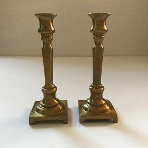 vtg metal candlesticks, vintage candlesticks decor